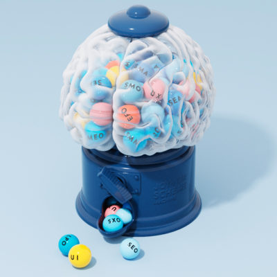 キャンディーマシンのCG 青