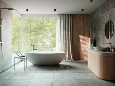 浴室のインテリアCG